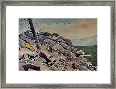 Marmot Hill Framed Print by Thomas Stratton
