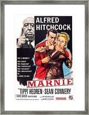 Marnie, L-r Alfred Hitchcock, Sean Framed Print by Everett