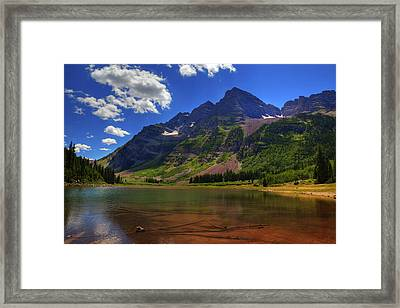 Framed Print featuring the photograph Maroon Bells by Alan Vance Ley