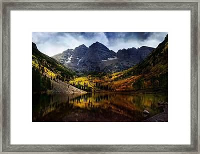Maroon Bells - An American Icon Framed Print by Ellen Heaverlo