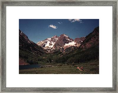 Framed Print featuring the photograph Maroon Bells  Colorado by Bill Woodstock
