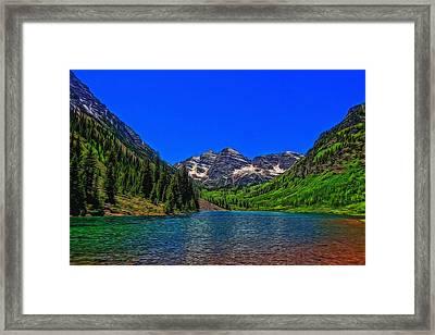 Maroon Bells Colorado In Summer Framed Print by Dan Sproul