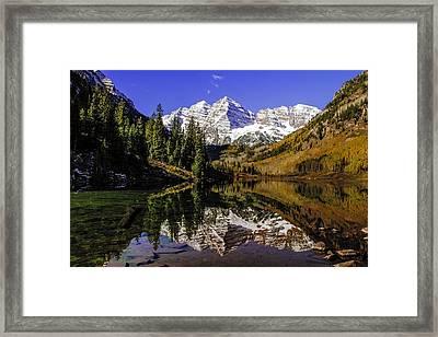 Maroon Bells In Aspen Colorado Framed Print