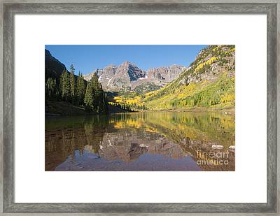 Maroon Bells In Autumn Framed Print by Juli Scalzi