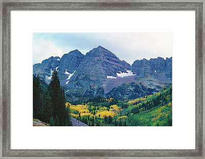 Maroon Bells In Fall Framed Print by Adventure photo