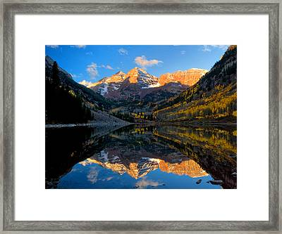 Maroon Bells Landscape Framed Print by Ronda Kimbrow