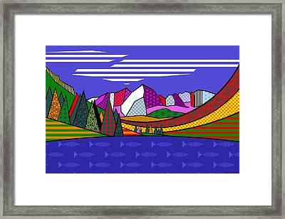 Framed Print featuring the digital art Maroon Bells by Randall Henrie