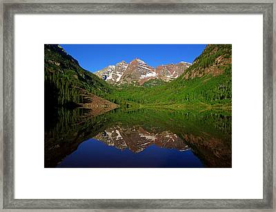 Maroon Bells Reflection Framed Print by Daniel Woodrum
