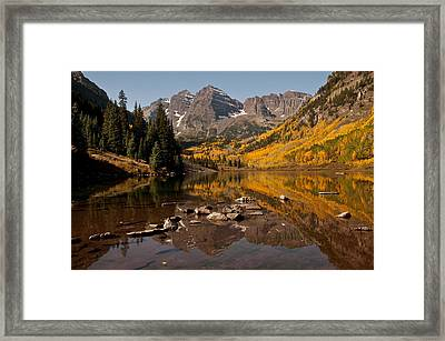 Maroon Bells Reflection Framed Print