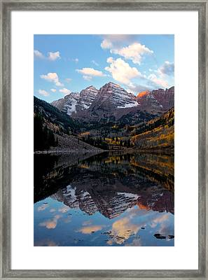 Framed Print featuring the photograph Maroon Bells by Ronda Kimbrow