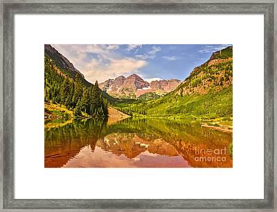 Maroon Bells Summer Framed Print
