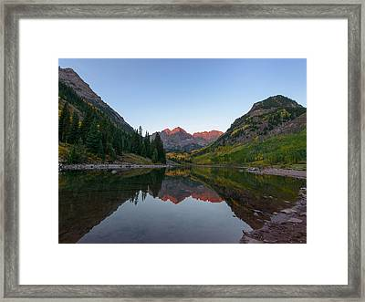 Maroon Bells Sunrise Framed Print by David Yack