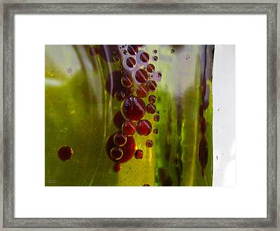 Maroon Bubbles Framed Print