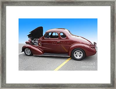 Maroon Coupe Framed Print