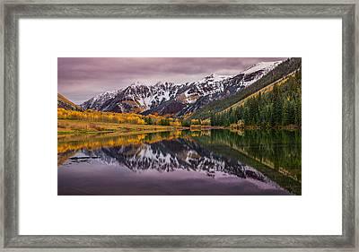 Maroon Lake Framed Print by Darren  White