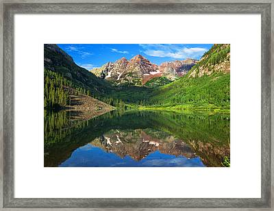 Maroon Morning Framed Print by Darren  White