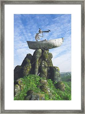 Marooned Framed Print by Cynthia Decker