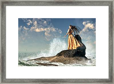 Marooned Framed Print by Daniel Eskridge