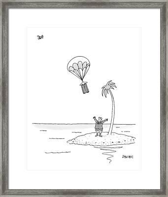 Marooned On An Island Framed Print
