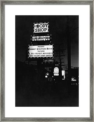 Marquee On Sunset Blvd Framed Print