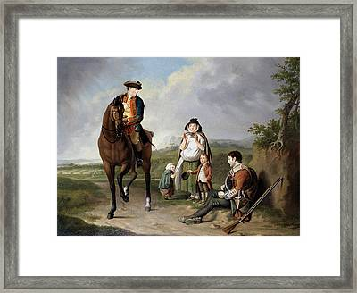 Marquess Of Granby Relieving A Sick Framed Print by Edward Penny