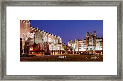 Marquette Hall And Holy Name Of Jesus Catholic Church At Loyola University New Orleans Louisiana Framed Print by Silvio Ligutti