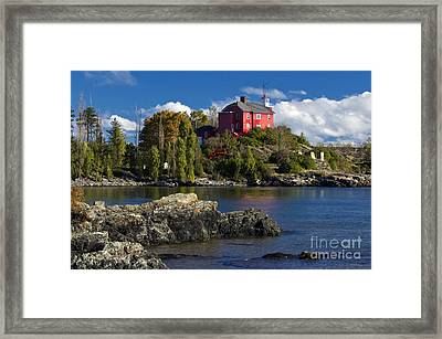 Marquette Harbor Light - D003224 Framed Print
