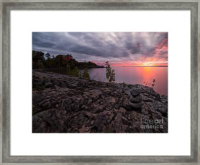 Marquette Harbor Lighthouse Framed Print by Todd Bielby