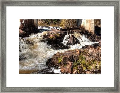 Marquette Rushing Waters 1 Framed Print by Deborah Smolinske