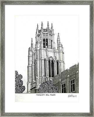 Marquette University Framed Print by Frederic Kohli