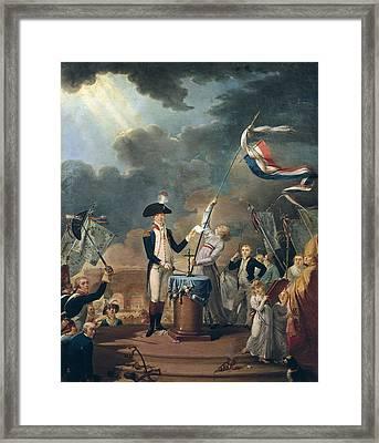 Marquis De La Fayette In The Federation Framed Print by Everett