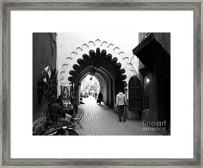 Marrakesh Medina Framed Print by Sophie Vigneault