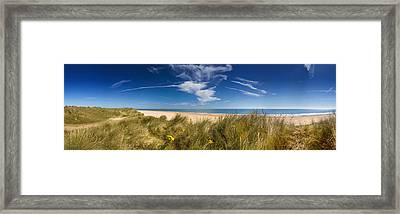 Marram Grass, Dunes And Beach Framed Print by Panoramic Images