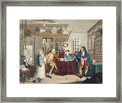 Marriage A La Mode, Plate IIi, The Framed Print by William Hogarth