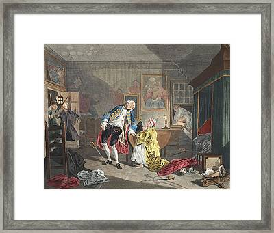Marriage A La Mode, Plate V, The Framed Print by William Hogarth