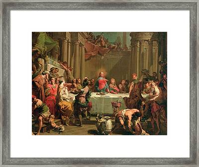 Marriage Feast At Cana Framed Print