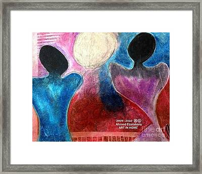 Marriage Makes A Man And You Look To The Future Framed Print by Ahmed  Elzalabany