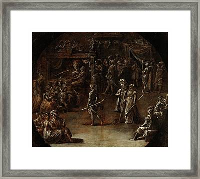 Marriage Of A Patrician Couple Nicolò Dellabate Framed Print by Litz Collection