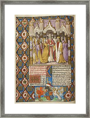 Marriage Of Henry V And Catharine Framed Print by British Library