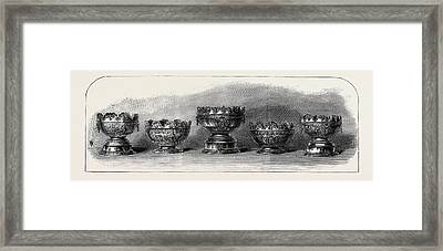 Marriage Of The Duke Of Connaught Silver Bowls Presented Framed Print by English School