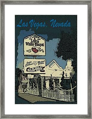 Best Little Chapel In Vegas Framed Print by John Malone