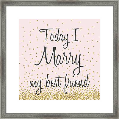 Marry Hearts II Framed Print