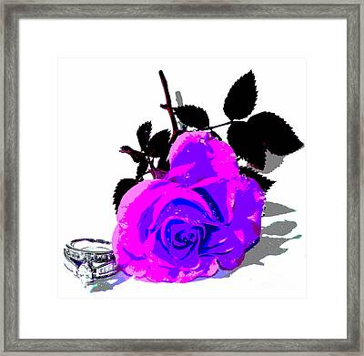 Marry Me Framed Print by Krissy Katsimbras