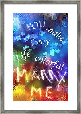 Marry Me Framed Print by Steve K