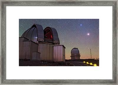 Mars And La Silla Observatory Framed Print by Babak Tafreshi