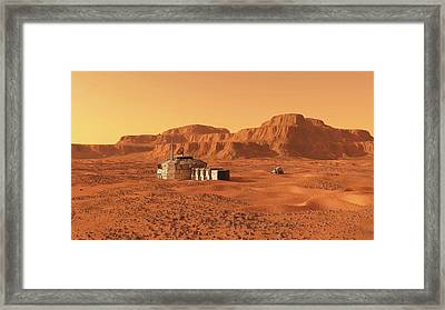 Mars Base Framed Print by Walter Myers