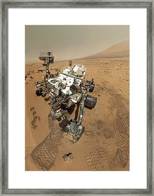 Mars Curiosity Rover Self-portrait Framed Print by Science Photo Library