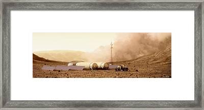 Mars Dust Storm Framed Print by Bryan Versteeg