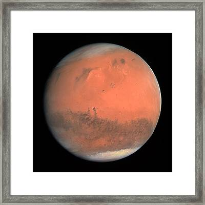 Mars Framed Print by Esa,mps For Osiris Team Mps/upd/ Lam/iaa/ Rssd/ Inta/ Upm/ Dasp/ Ida