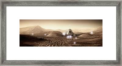 Mars Habitat - Valley End Framed Print by Bryan Versteeg